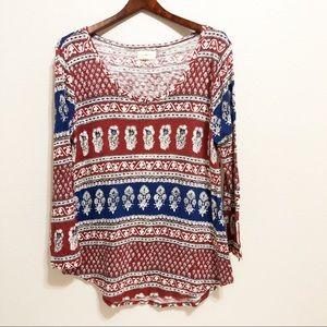 Lucky Brand | Women's Long Sleeve Blouse | M
